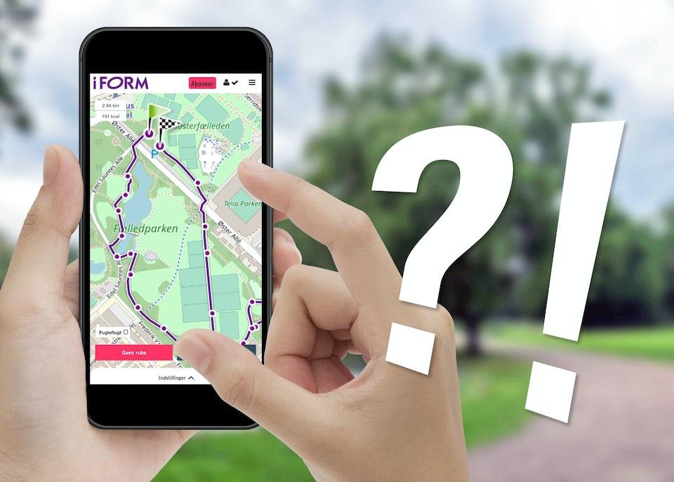 Spørgsmål til I FORMs ruteplanner
