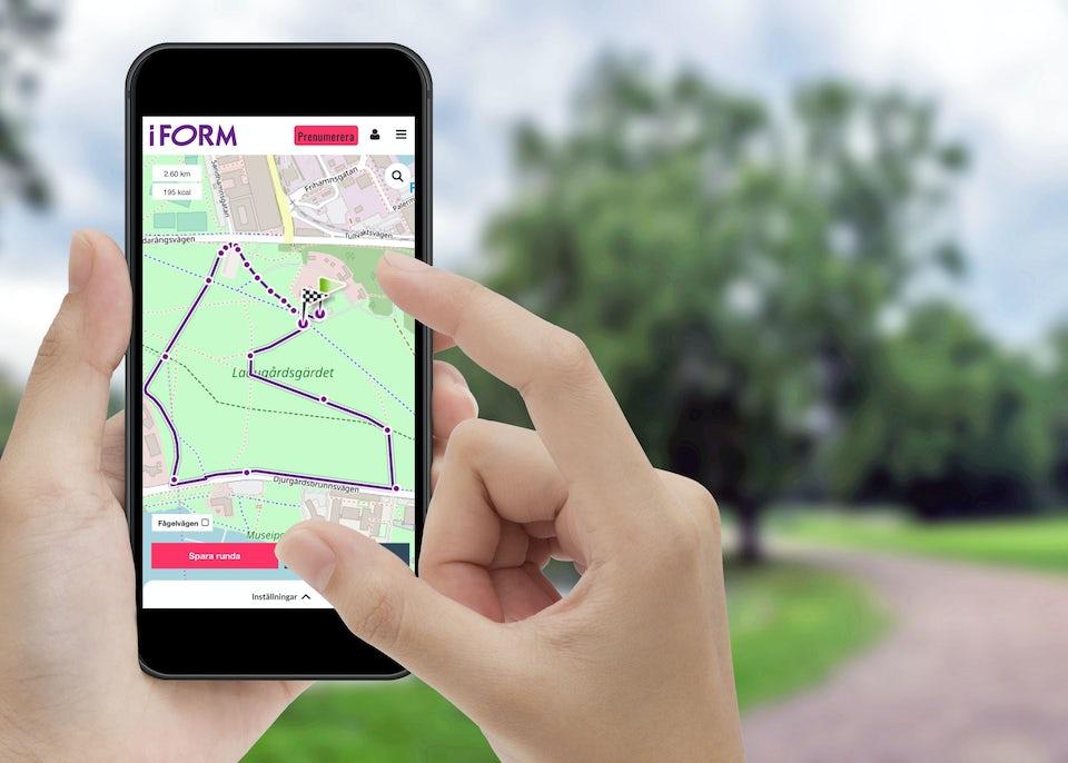 I FORMs ruttplanerare med ny stig-karta