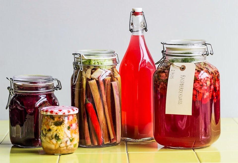 Fermentering af diverse grøntsager