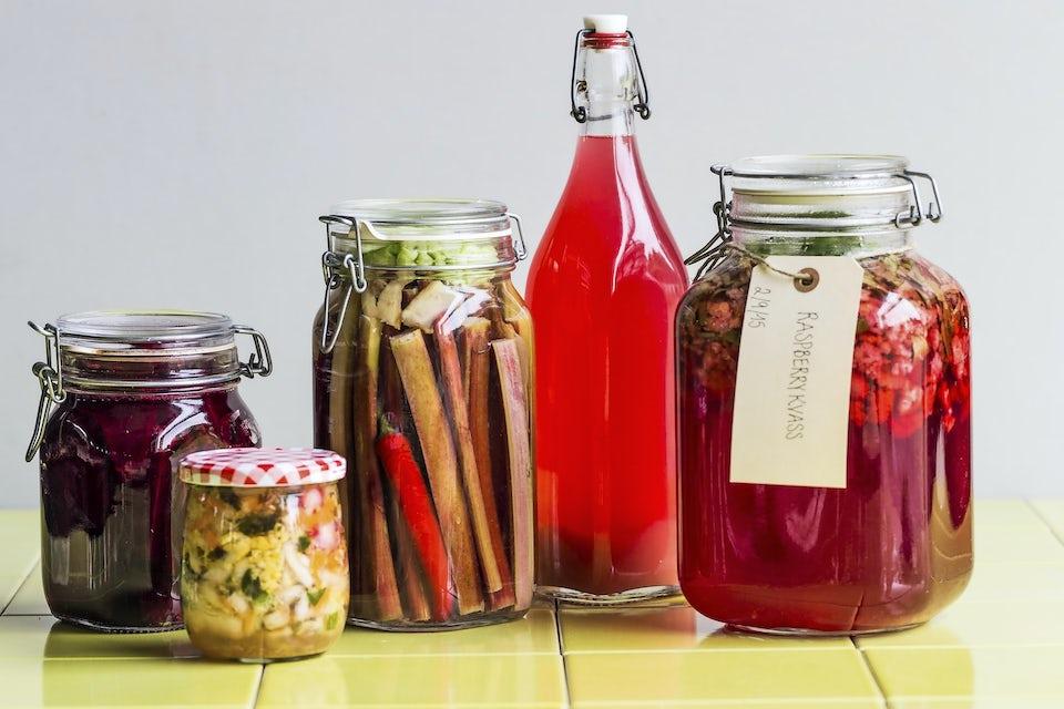 Fermentering av diverse grønnsaker