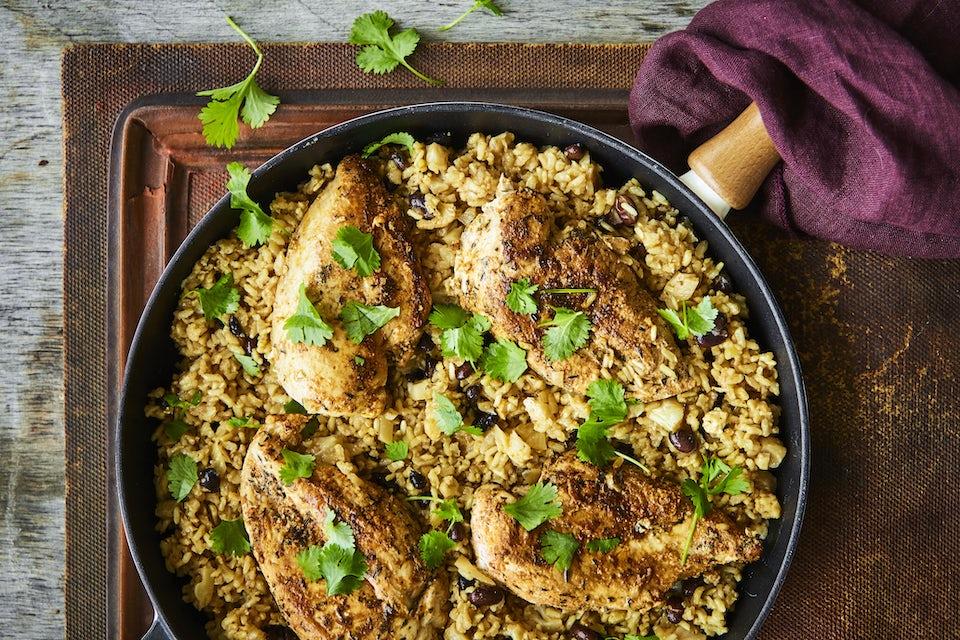 One pot med kylling og ris