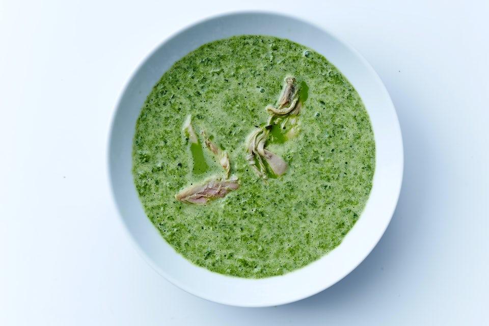 Grøn spinatsuppe