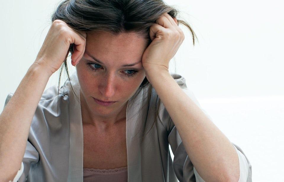 Stressad kvinna – stresstest