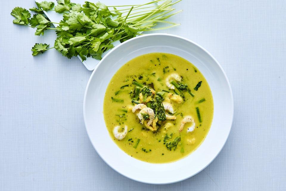 Tallrik med currysoppa