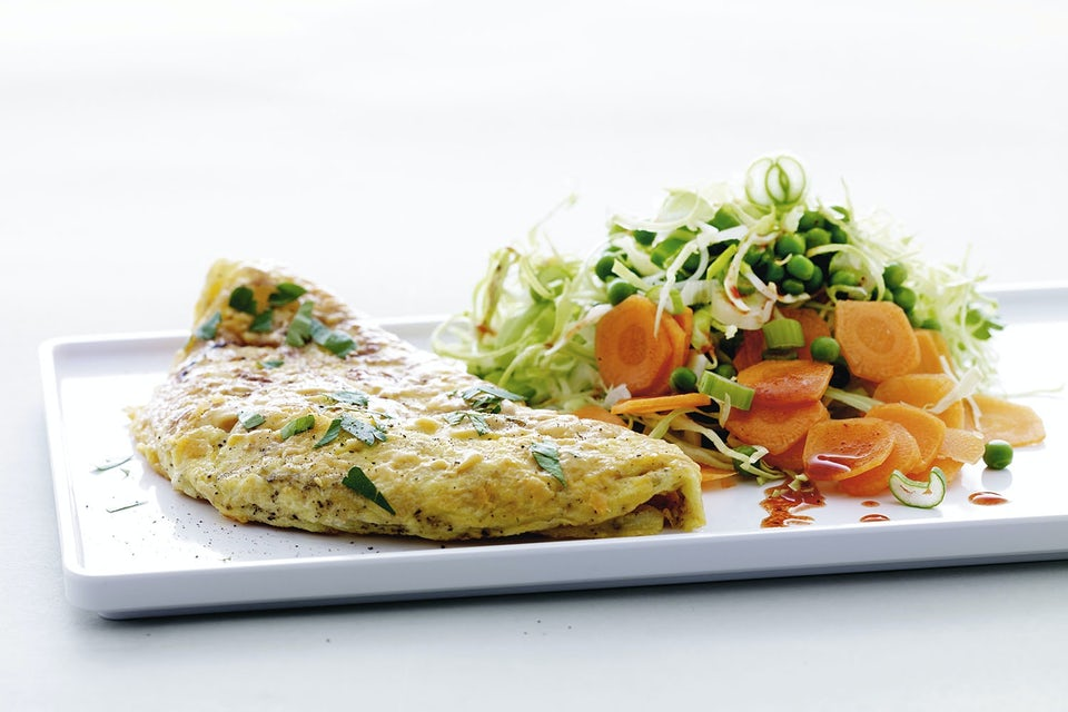 Omelett + sallad