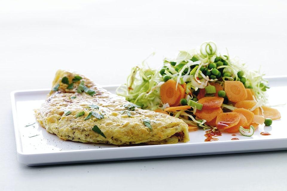 omelet + salat