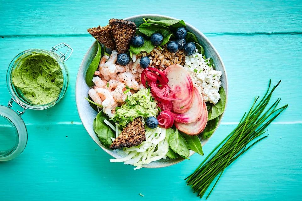 Det nordiske kjøkken er blant verdens sunneste - skandinavisk bowl