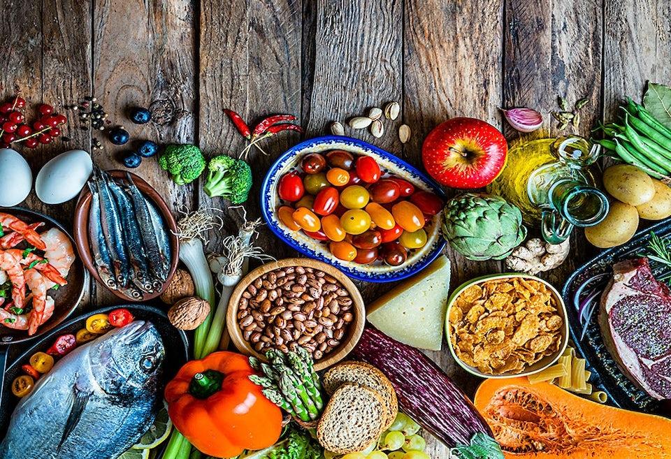 Kost med olika näringsämnen
