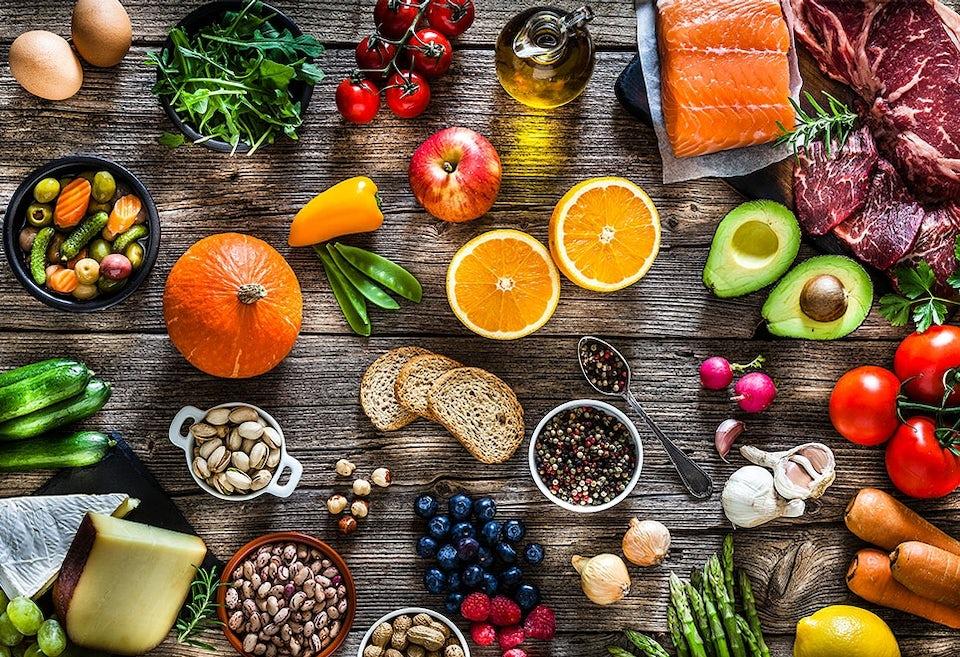 Forskjellige sunne matvarer