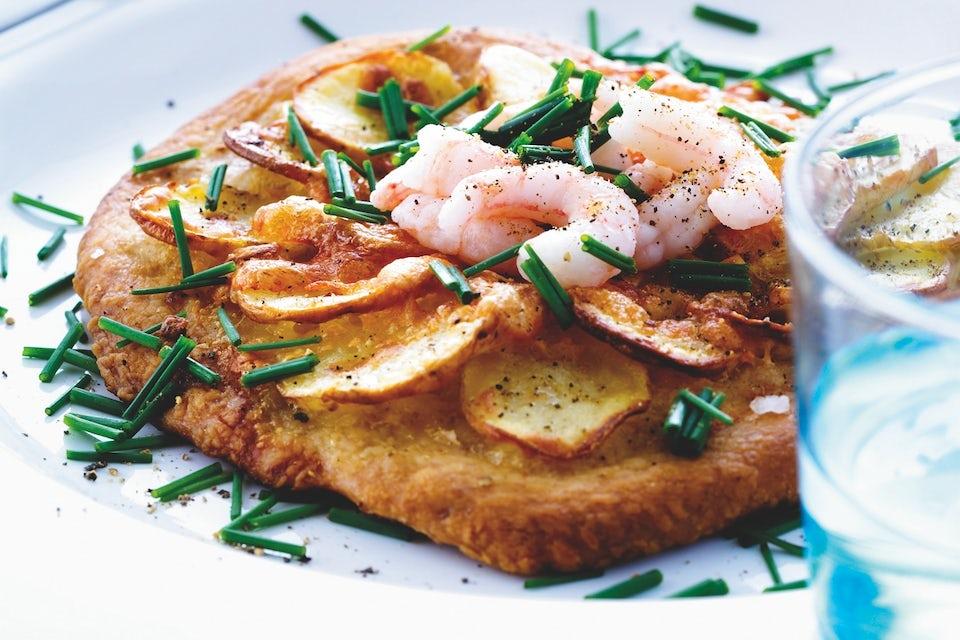 Minipizza lautasella