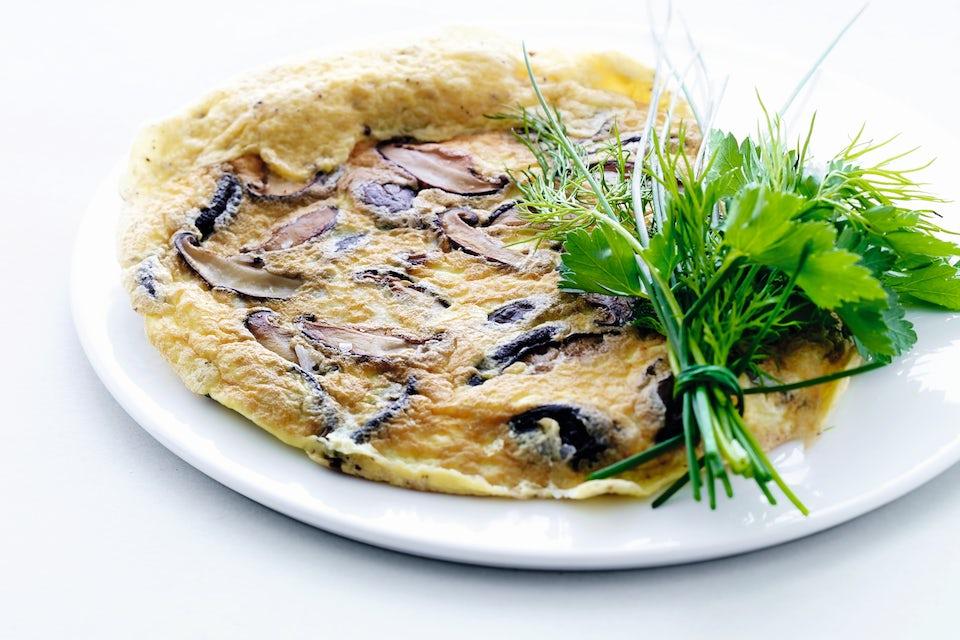 Tallerken med omelett