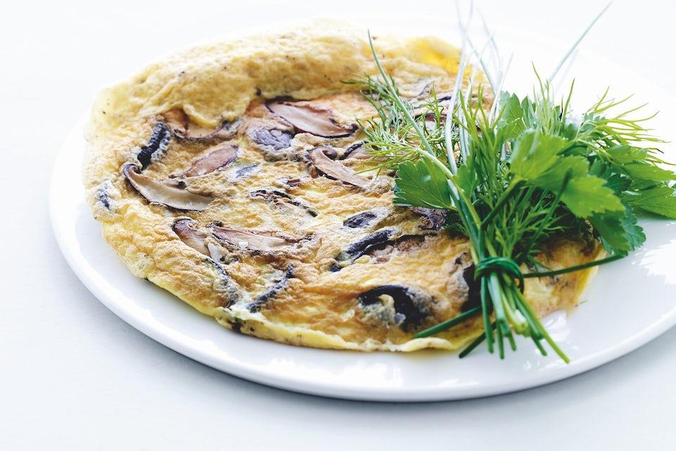 Tallerken med omelet