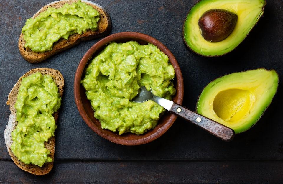 Avocado på brød