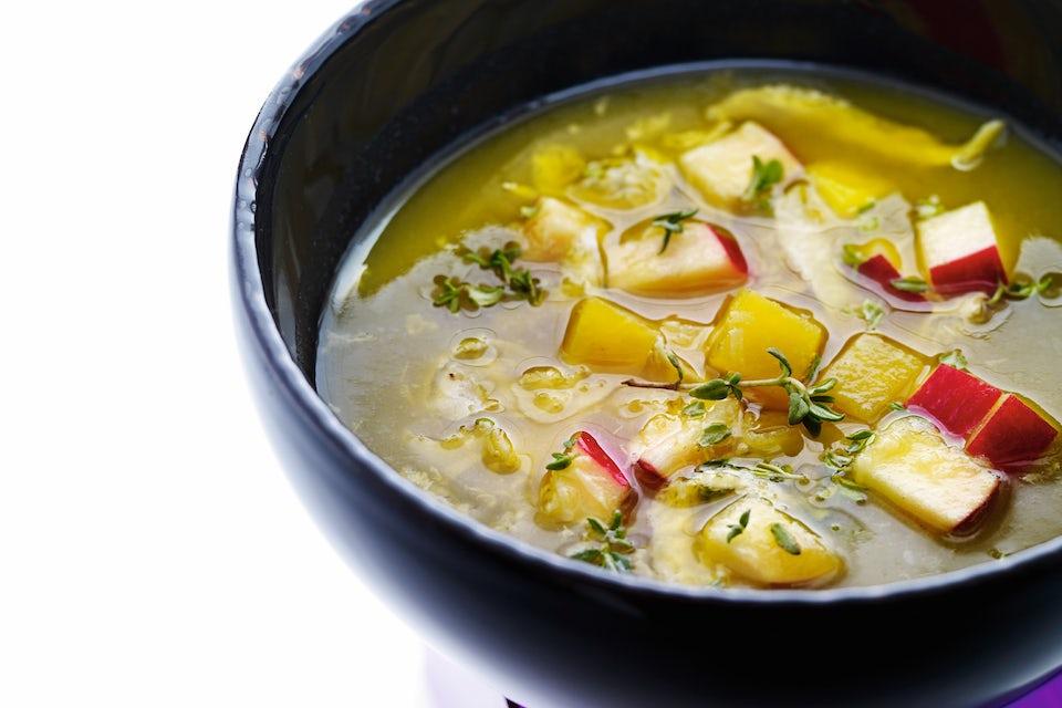 Skål med suppe