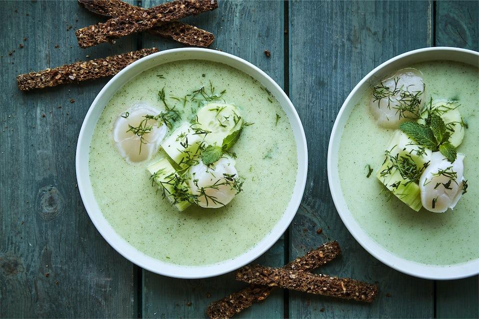 Suppe med kamskjell