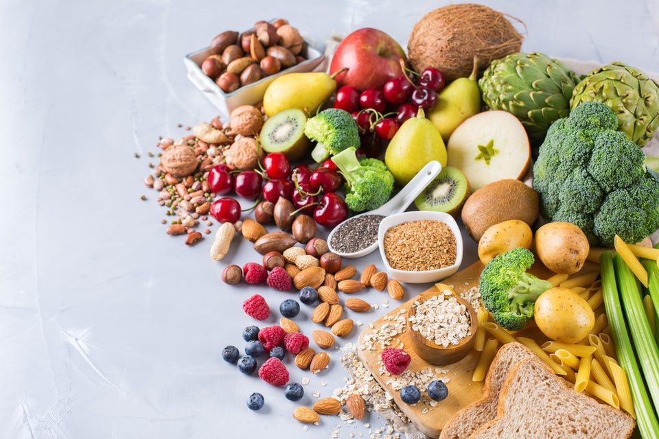 Mat med mycket fibrer