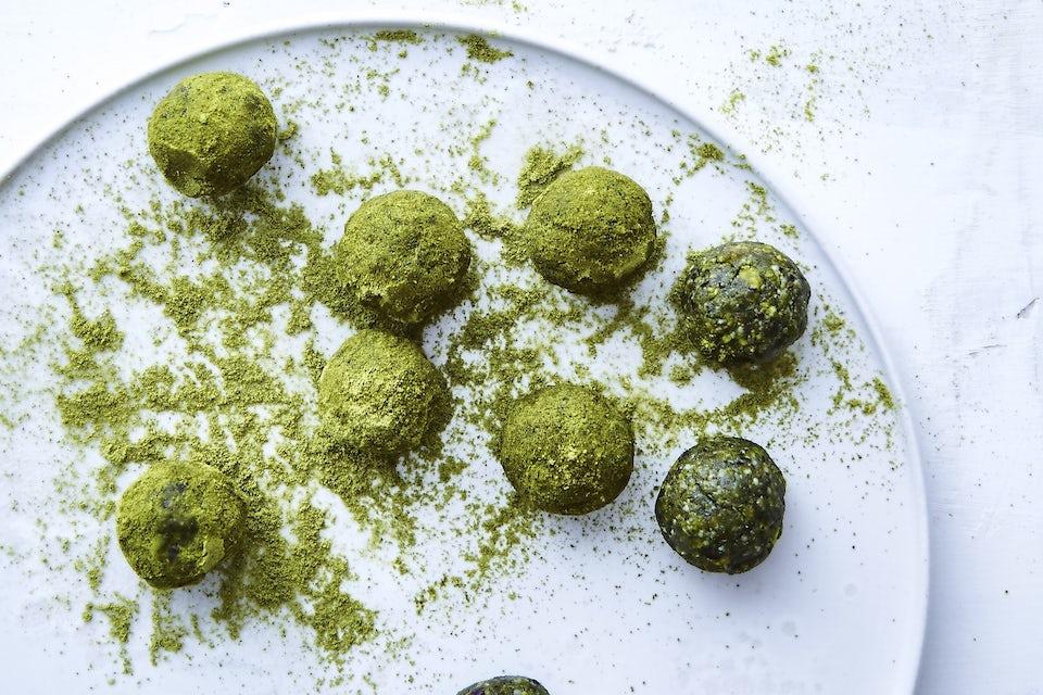 Grønne protein-kuler
