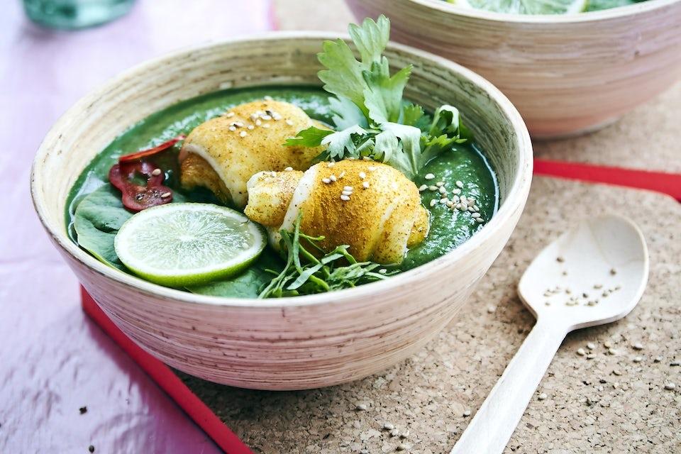 Grön thailändsk soppa