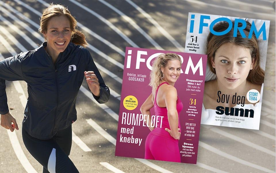 Kvinne og magasin