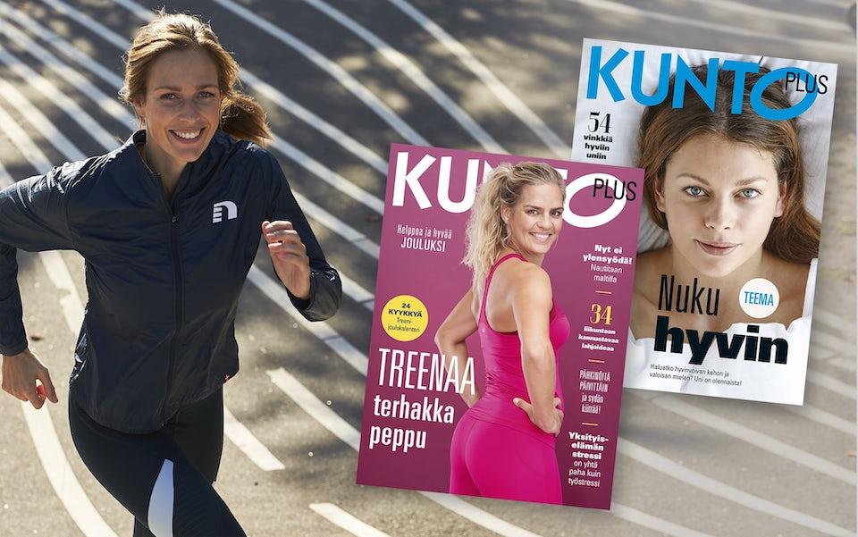 Nainen ja KUNTO PLUS -lehtiä