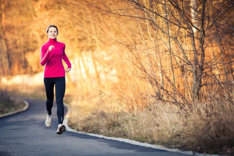 Löpning, förkylning, vinter, kallt, ute.