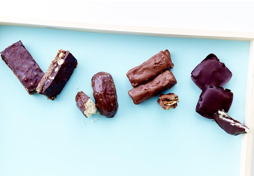 hjemmelavet Snickers, Bounty, KitKat og After Eight