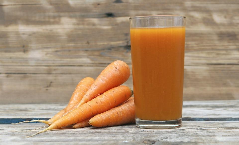 gulerødder og gulerodsjuice