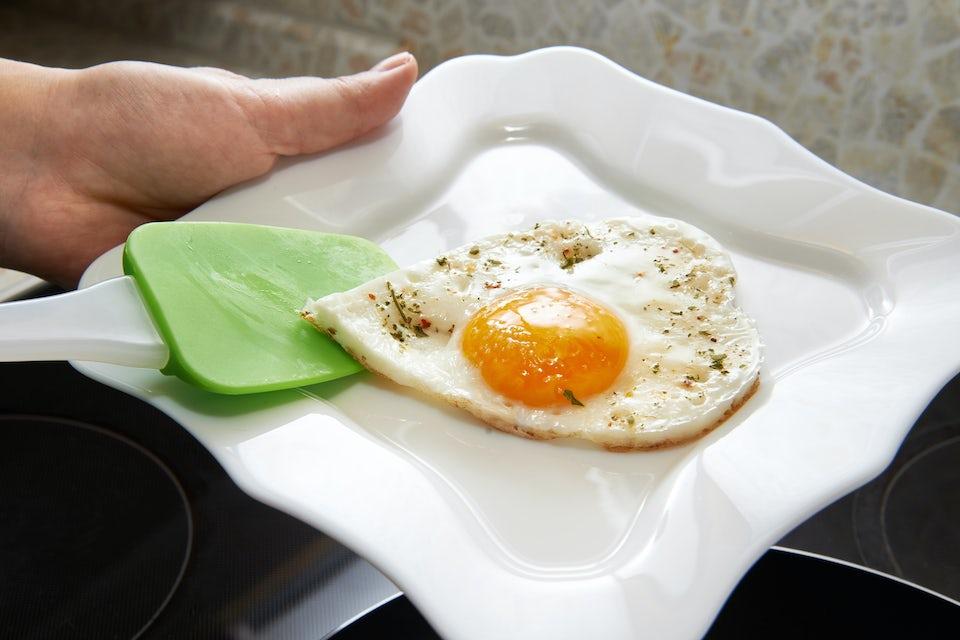Kolesterol, stekt ägg.