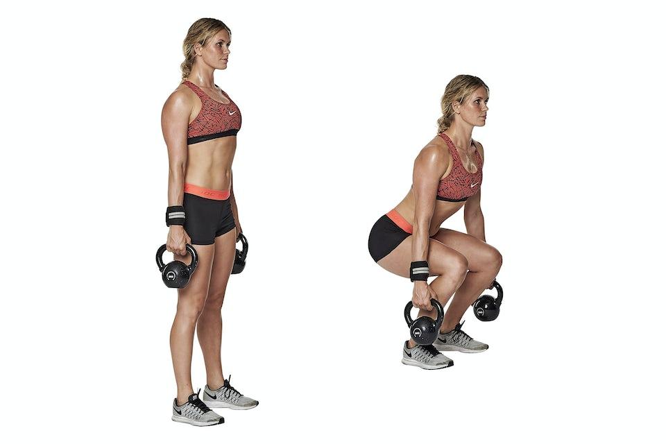 Kvinde laver squat
