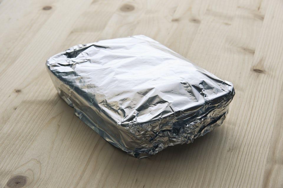 Mat i aluminiumfolie