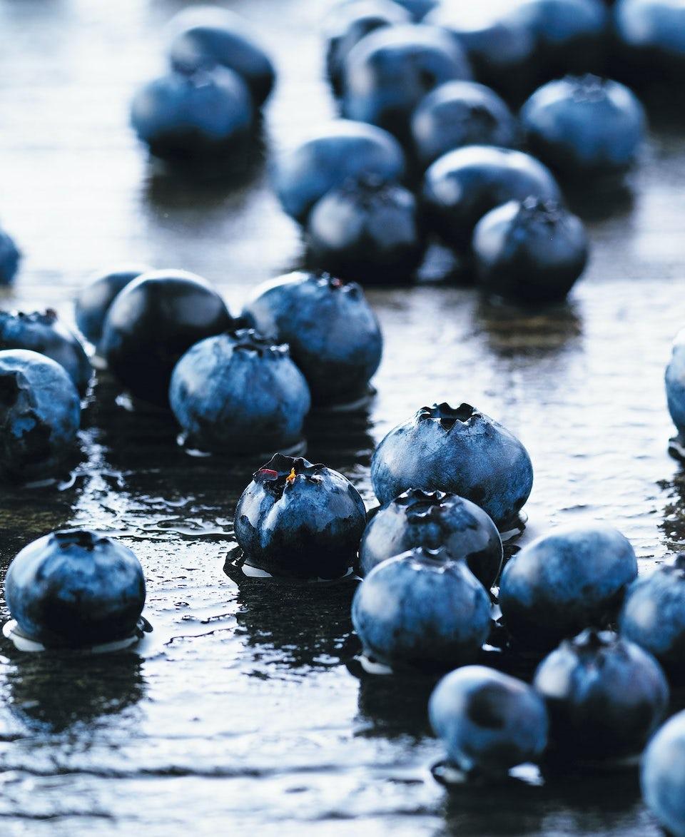 Blåbær i vand