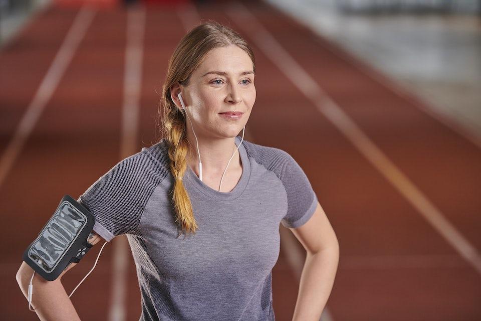 kvinne er klar for Copenhagen Marathon