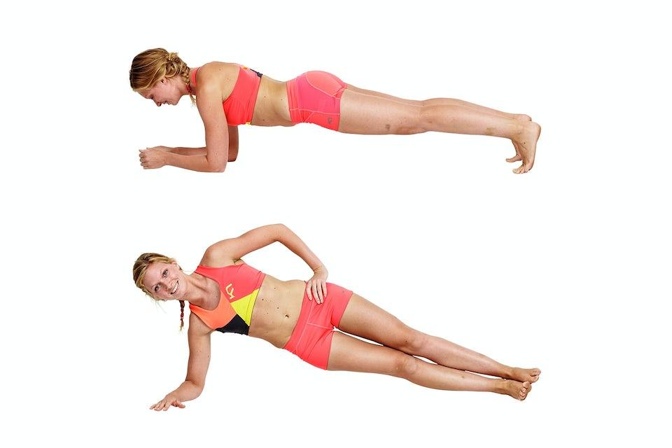 Planka, 180 grader, bikini