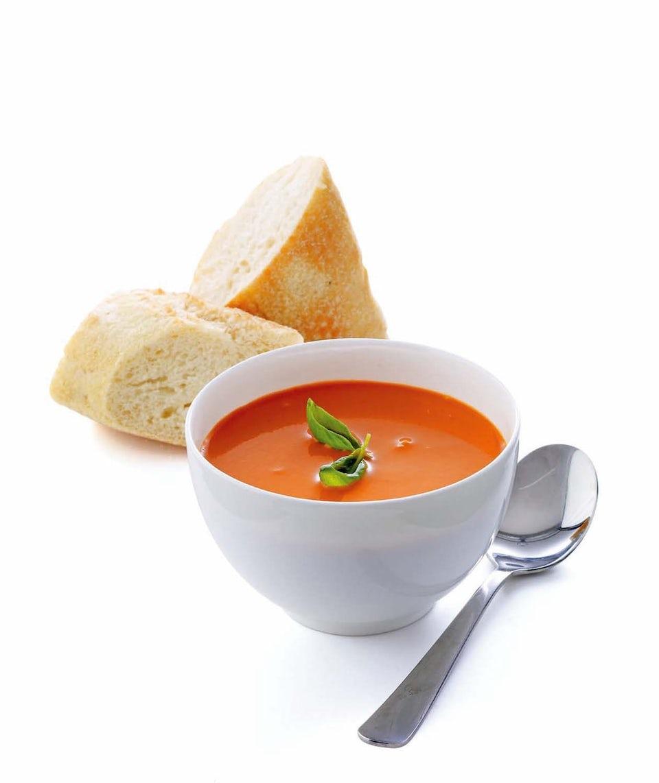 En skål med suppe