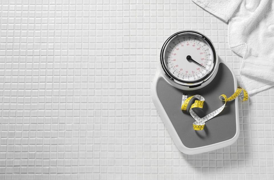 Målebånd og vægt