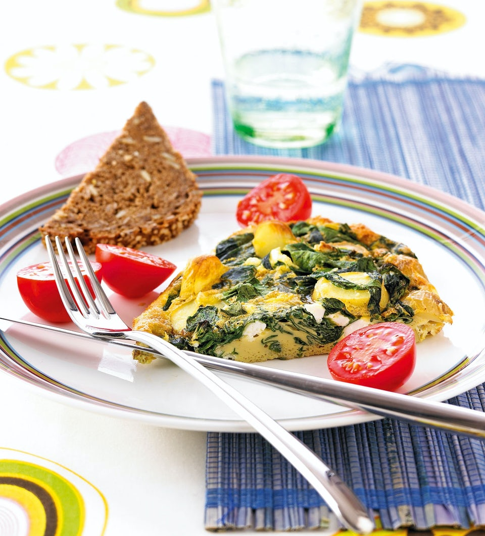 Omelet med spinat og feta