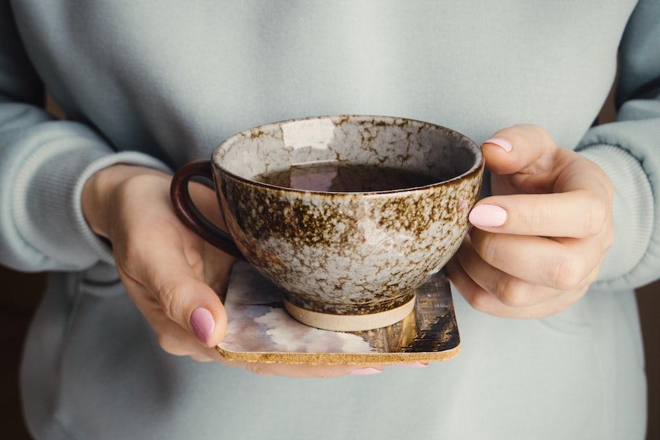 Kop med sort te