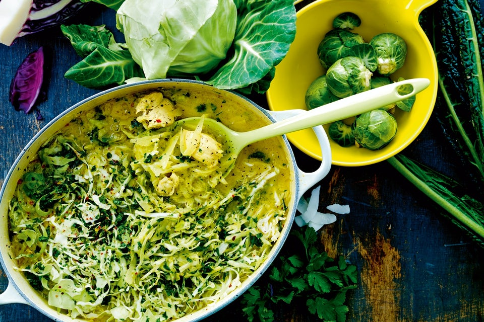 Kyckling i kål och curry