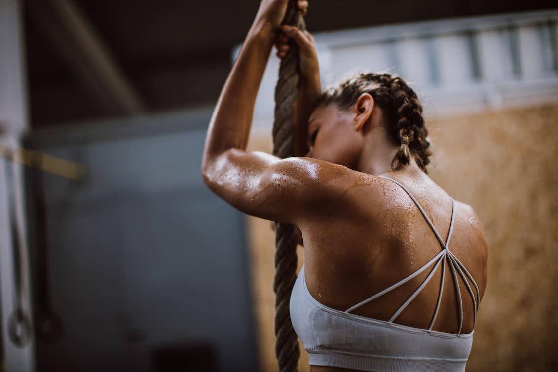 svettas mycket under träning