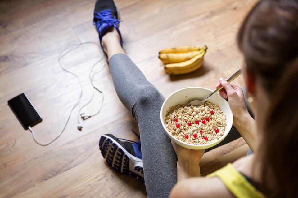 Mat efter träning