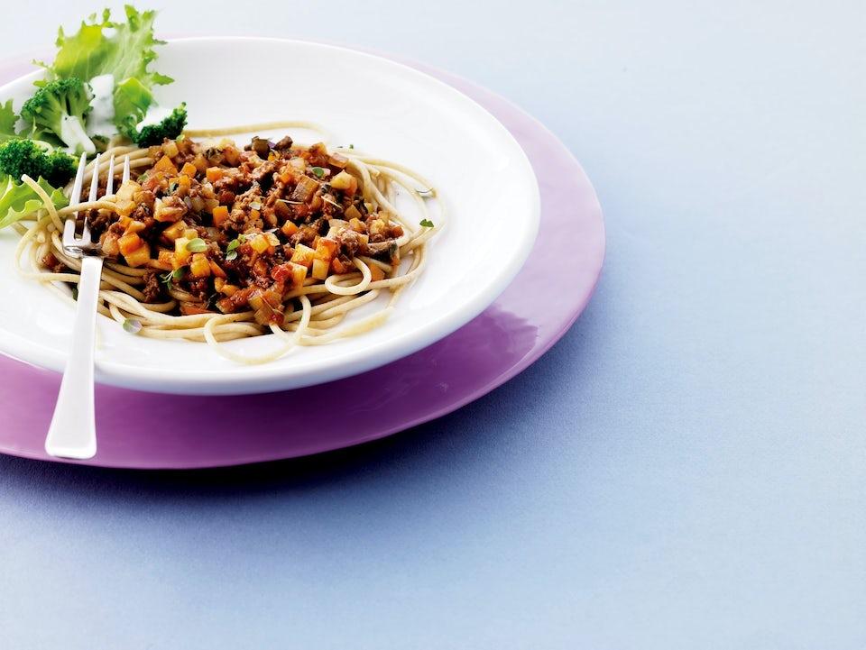 Spaghetti bolognese - sund kødsovs