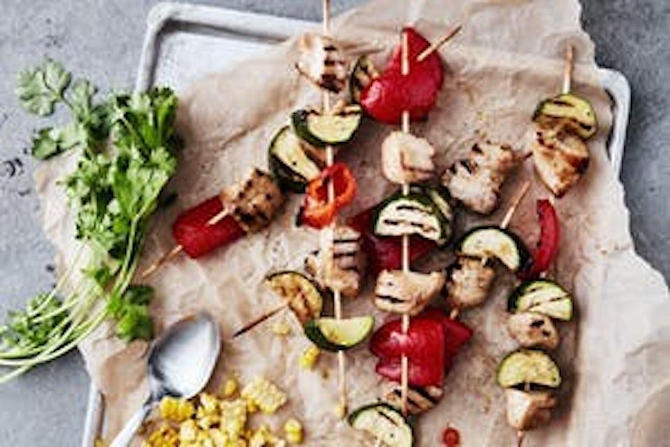 Spyd med kylling og grønnsaker