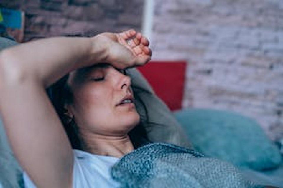 Kvinna med feber