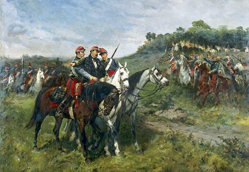 Samtida målning av James Alexandre Walker.