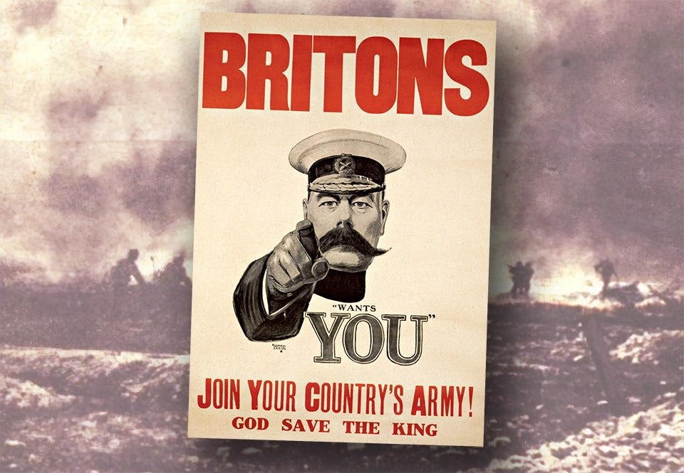 britons want you kitchener affisch