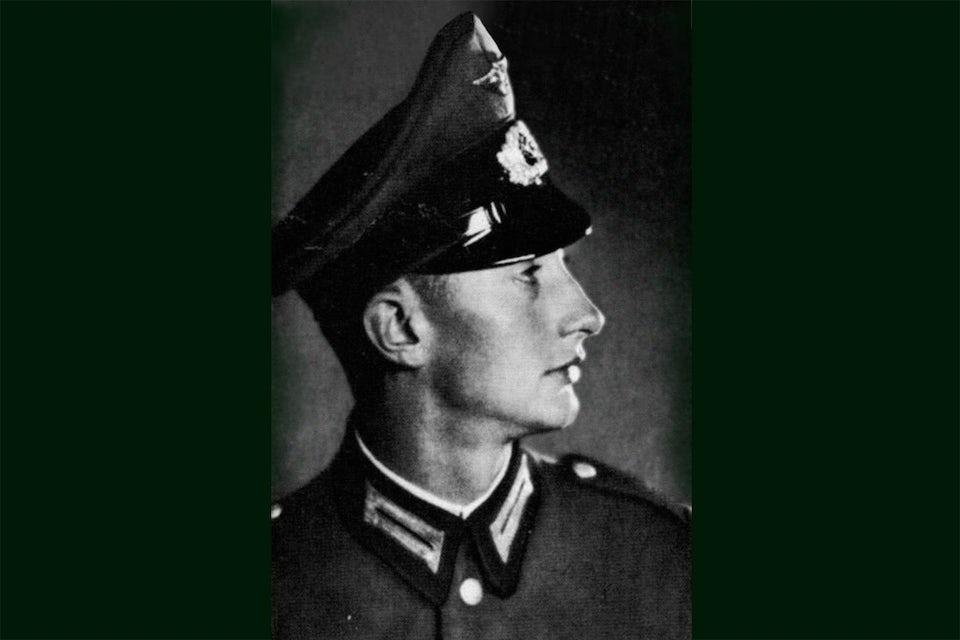En ung Georg Gärtner i tysk uniform.
