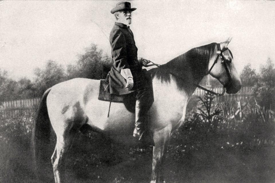 Sydstatsgeneralen Robert E Lee.