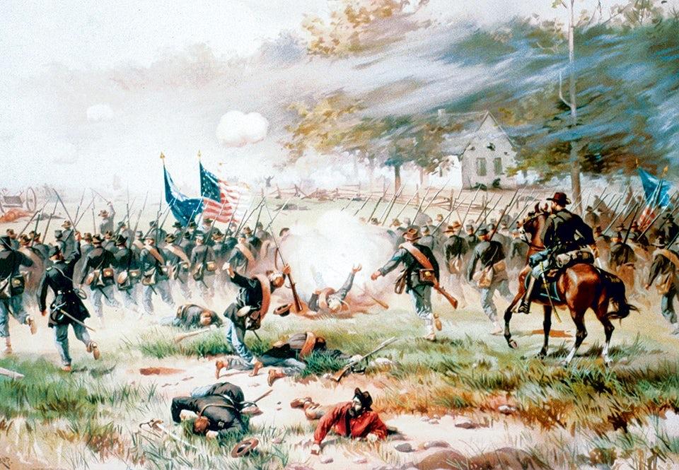Striderna vid Dunkerkyrkan under slaget vid Antietam är ännu i dag de blodigaste i amerikansk militärhistoria.