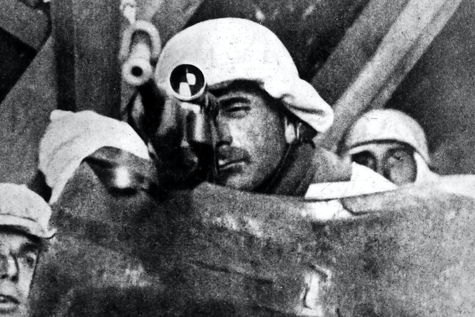 En tysk soldat vid Breslau på östfronten i januari 1945.