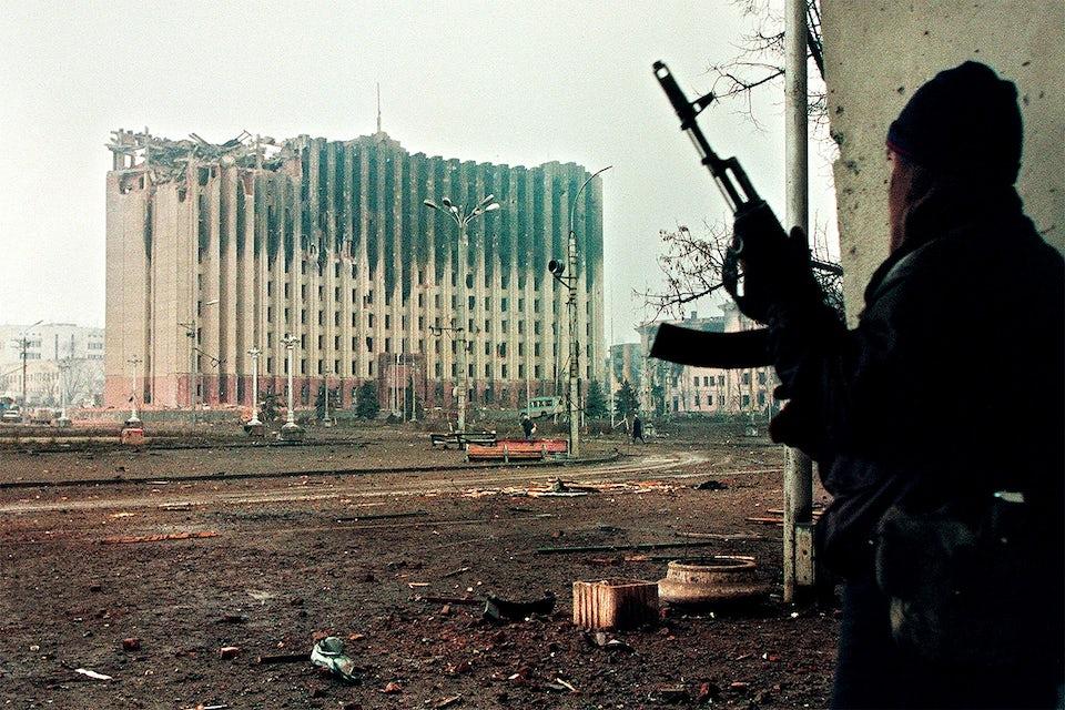 slaget om groznyj tjetjensk rebell